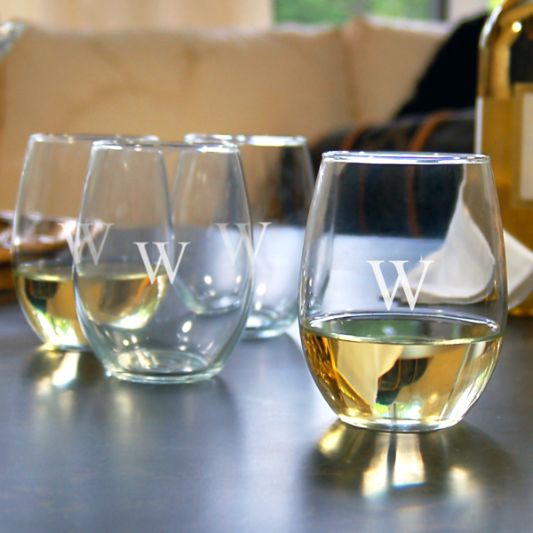 Stemless Wine Glasses (Set of 4